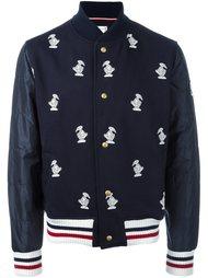 куртка-бомбер с вышивкой уток Moncler Gamme Bleu