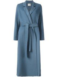 однобортное пальто с поясом Forte Forte