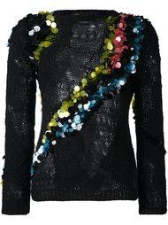 декорированный джемпер свободной вязки Versace
