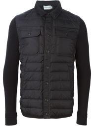 дутая куртка с контрастными рукавами Moncler