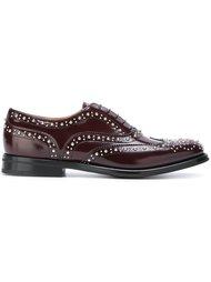 туфли броги с заклепками Church's