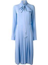 плиссированное платье-рубашка с бантом Nº21