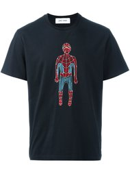 футболка с вышивкой человека паука Jimi Roos
