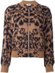 куртка-бомбер с леопардовым принтом   Sonia By Sonia Rykiel