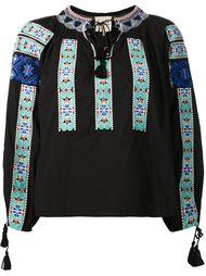 embroidered peasant top Sea