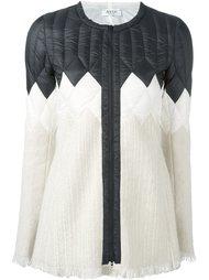 куртка-пуховик на молнии со стеганой панелью Aviù