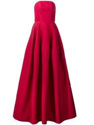 расклешенное платье без бретелек Christian Siriano