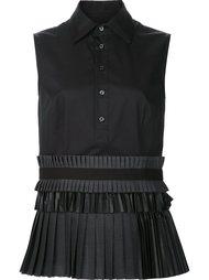 платье-рубашка с плиссированной юбкой Dsquared2