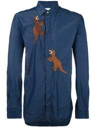 рубашка с вышивкой динозавров Paul Smith