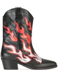 flame Western boots Chiara Ferragni