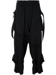 брюки свободного кроя с ремешками Yohji Yamamoto