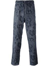 брюки с цветочным принтом   YMC