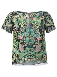 футболка с вышивкой Marchesa