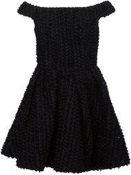 платье с открытыми плечами Christian Siriano