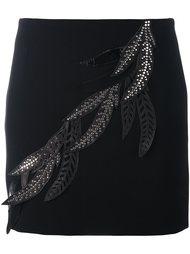 'leaves' embellished fitted skirt Versus