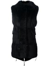 пуховая жилетка с меховой отделкой Furs66
