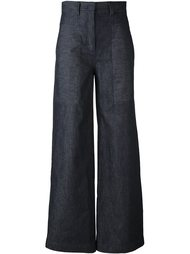 укороченные широкие брюки  DKNY