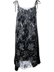 платье с кружевной вставкой  Antonio Marras