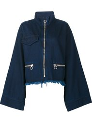 wide sleeve zip up jacket Marques'almeida