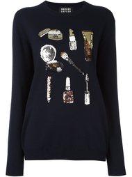 свитер с пайетками  Markus Lupfer