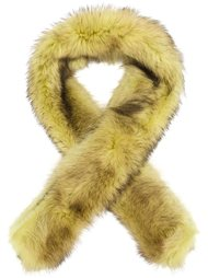 racoon fur shawl Vera Wang