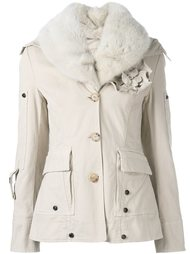 куртка с цветочной аппликацией Ermanno Scervino