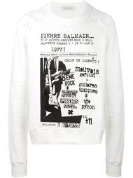 толстовка с принтом 'Rock Concert' Pierre Balmain