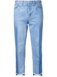 укороченные джинсы с контрастными панелями Rito