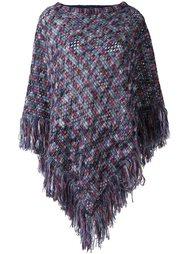 вязаное пончо с кисточками Missoni