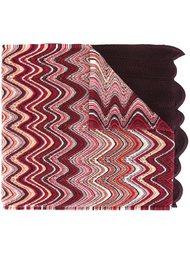 вязаный шарф с зигзагообразным узором Missoni