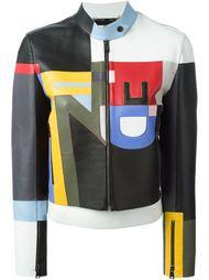 куртка с заплатками Fendi