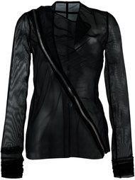 полупрозрачная байкерская куртка  Rick Owens Lilies