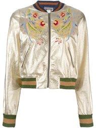 куртка бомбер с цветочной вышивкой Aviù