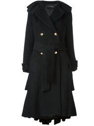 пальто с поясом и необработанными краями Christian Pellizzari