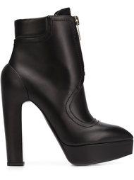 high-heel zip boots Vera Wang