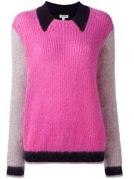 свитер колор-блок  Kenzo