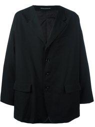 объемное однобортное пальто Yohji Yamamoto