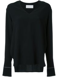 блузка с контрастными вставками Rito