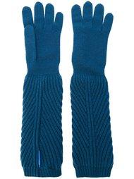 перчатки в рубчик  Moncler