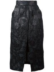 юбка-карандаш с цветочной вышивкой Christian Pellizzari