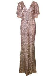 вечернее платье с пайетками Marchesa Notte