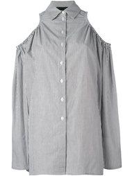 полосатая рубашка с открытыми плечами Victoria/Tomas