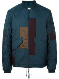 куртка-бомбер в стиле пэчворк Oamc