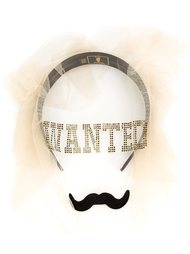 'Wanted Moustache' veil Piers Atkinson