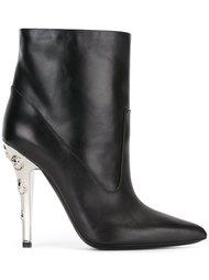 ботинки с заклепками на каблуке Versus