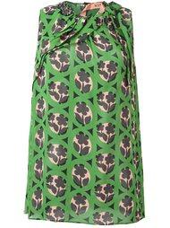 блузка с цветочным узором Nº21