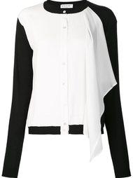 рубашка с контрастными рукавами Vionnet