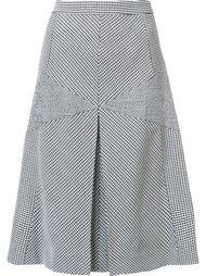 расклешенная юбка с контрастными вставками Derek Lam