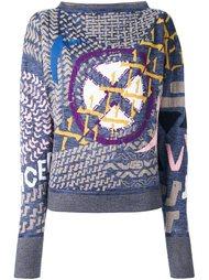 пуловер с комбинированным принтом Vivienne Westwood Red Label