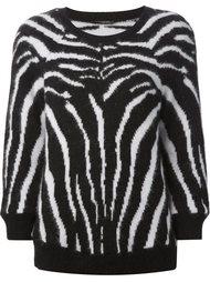 свитер с зебровым узором Balmain